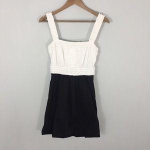 BCBGMAXZRIA Bubble Hem Ruffle Top Dress Size 4